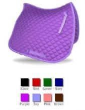 Quality Cotton Quilted Saddle Cloth.  Various Colours